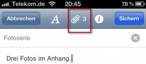 Evernote-anhang