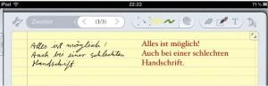 Evernote-handschrift