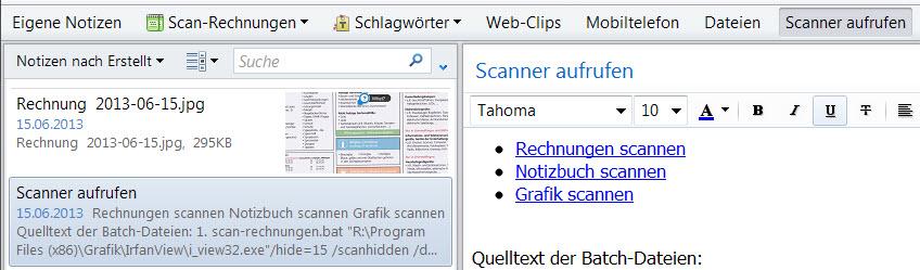 Scans automatisieren mit Irfanview – Evernote für Pfiffige
