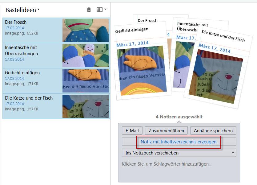 Inhaltsverzeichnis: Funktion verbessert – Evernote für Pfiffige